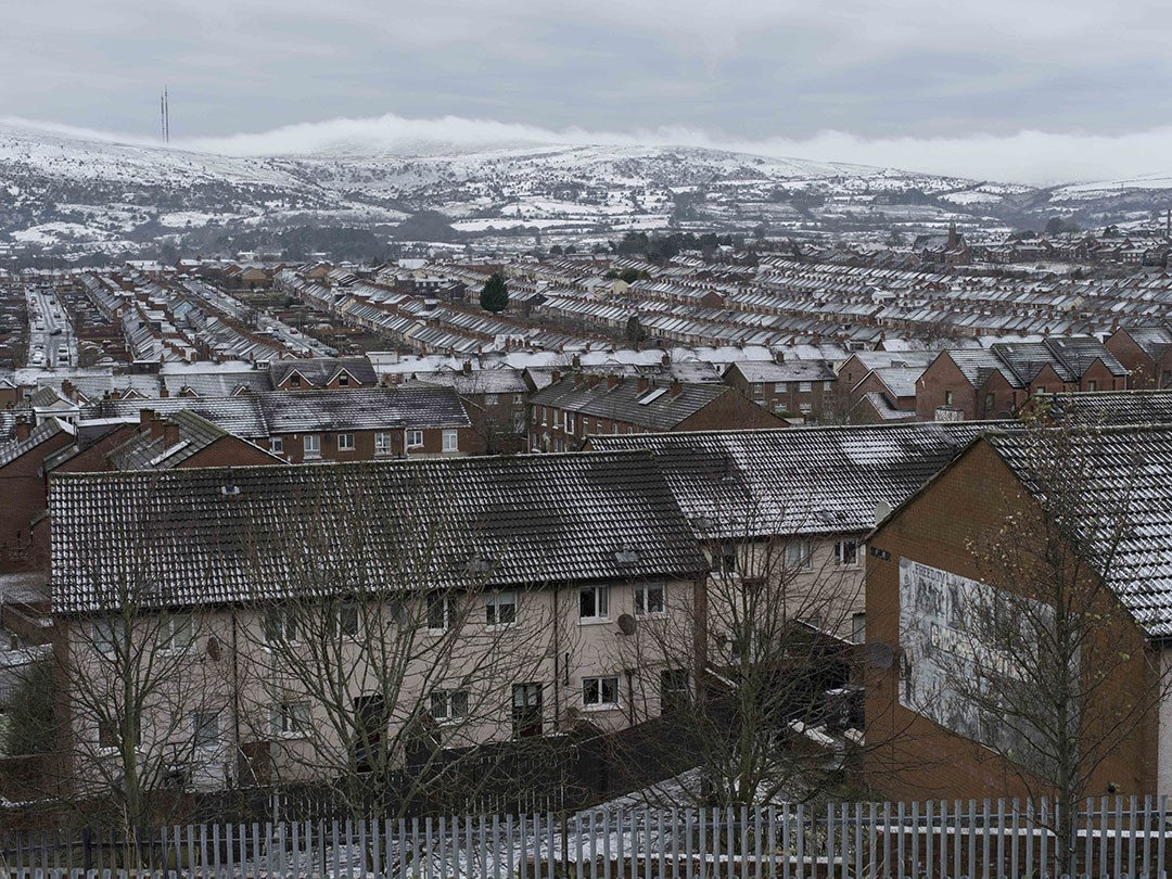 View from the Marrowbone millennium Park above Ardoyne, North Belfast. Foto: Florian Thoss